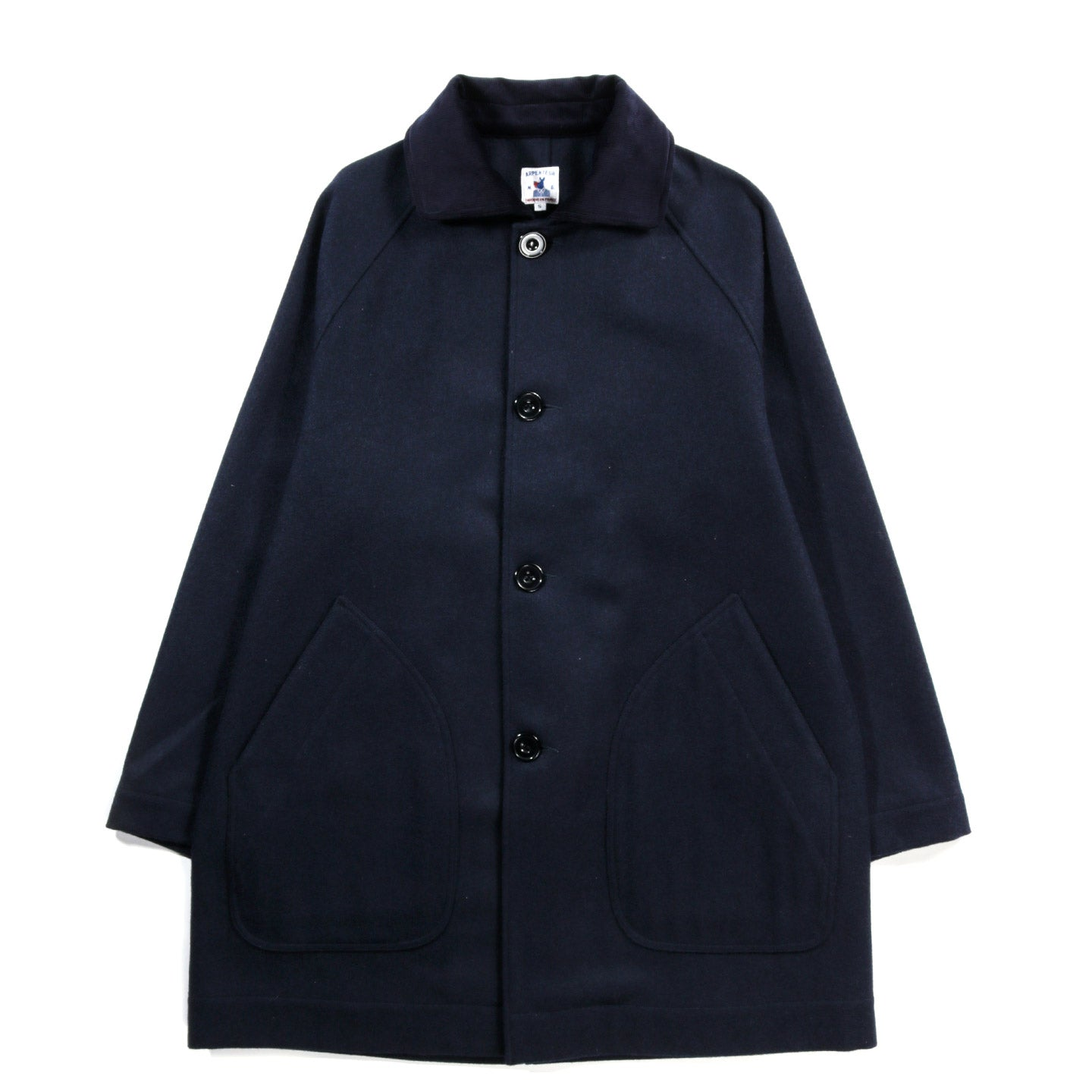 ARPENTEUR MEVI HOODED COAT NAVY
