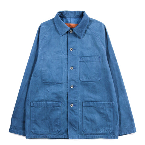 ARPENTEUR RAGLAN JACKET WOAD OVERDYED DENIM