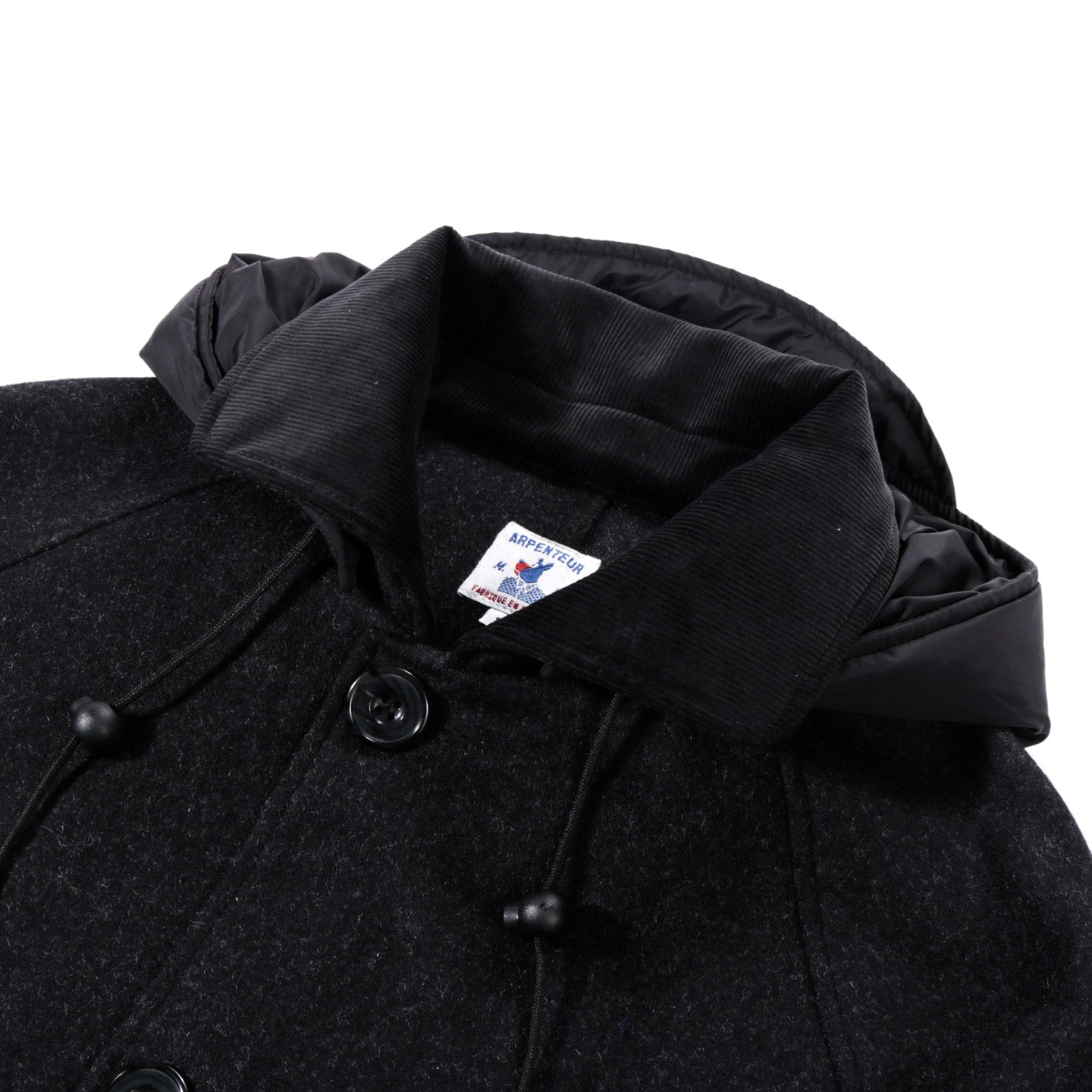 ARPENTEUR MEVI HOODED COAT CHARCOAL