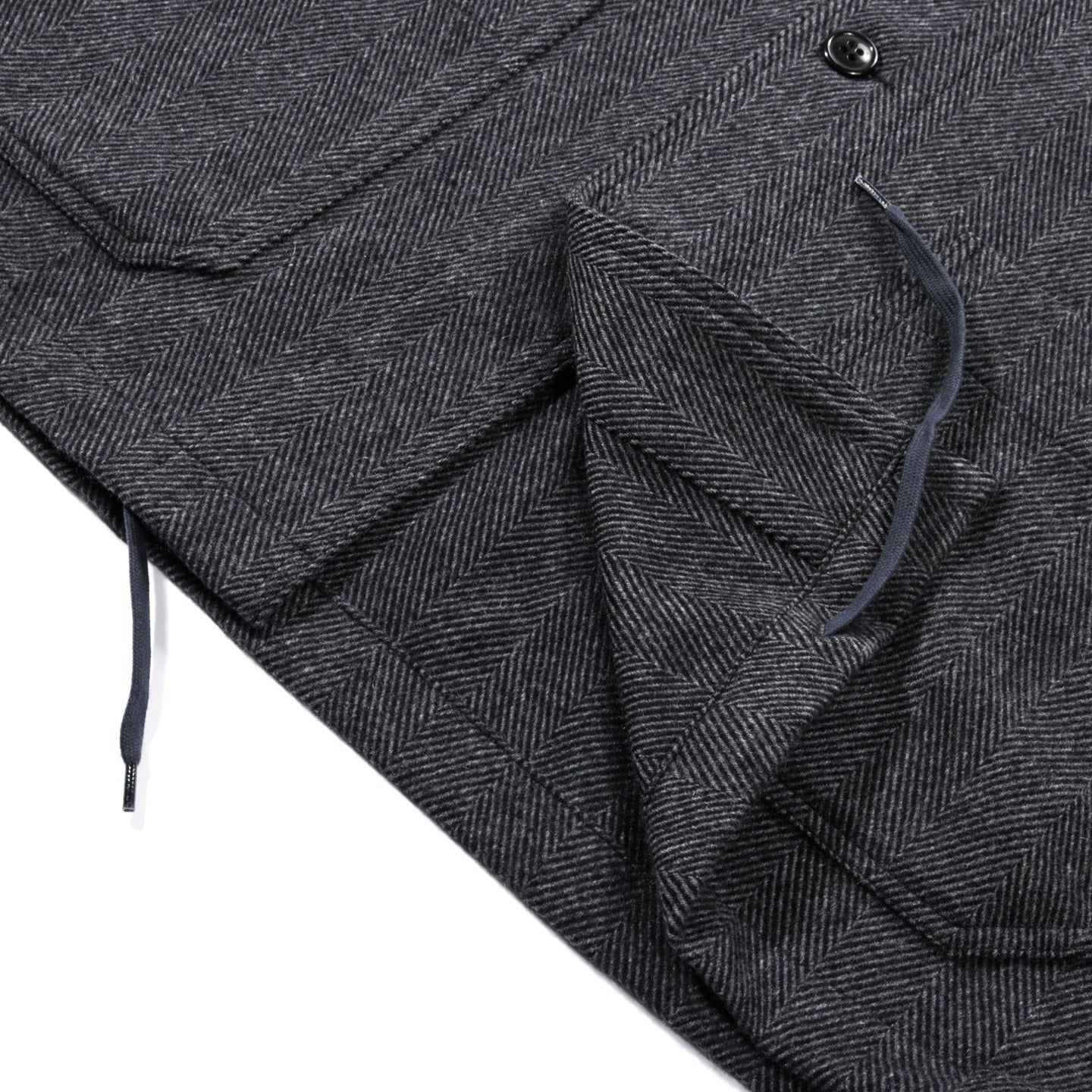ARPENTEUR ADN JACKET HERRINGBONE WOOL GREY