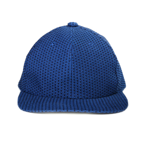 "BLUE BLUE JAPAN INDIGO YARN DYED STITCHED ""SASHIKO"" BASEBALL CAP BLUE"