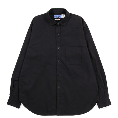BLUE BLUE JAPAN VINTAGE TWILL BOX SHIRT BLACK