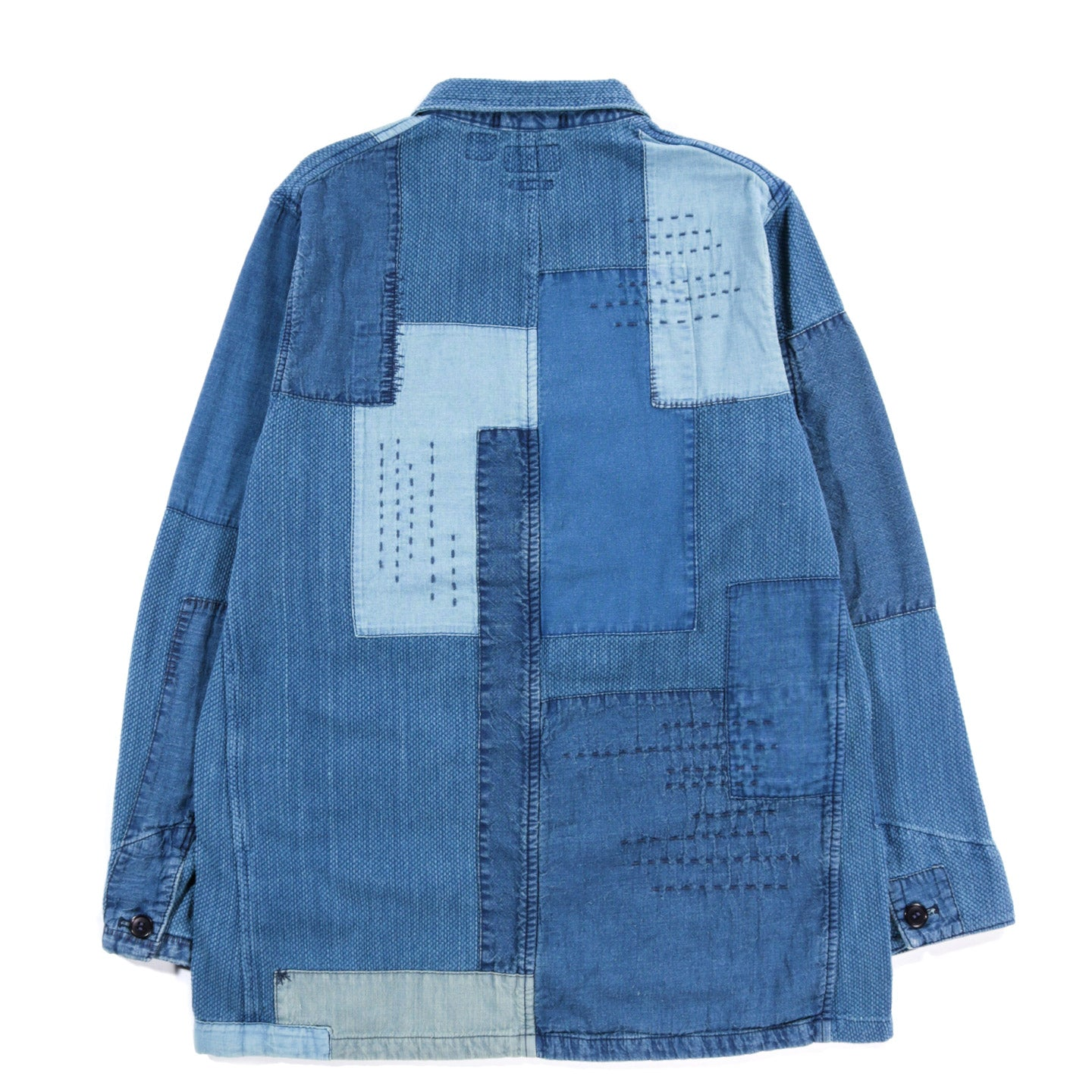 BLUE BLUE JAPAN SASHIKO 2-BUTTON JACKET INDIGO