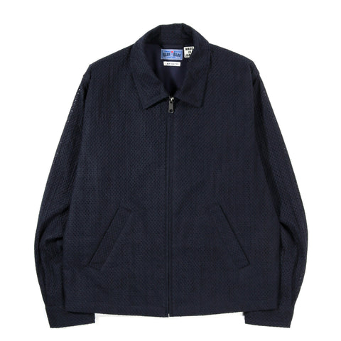BLUE BLUE JAPAN COTTON LACE DRIZZLER JACKET DARK NAVY