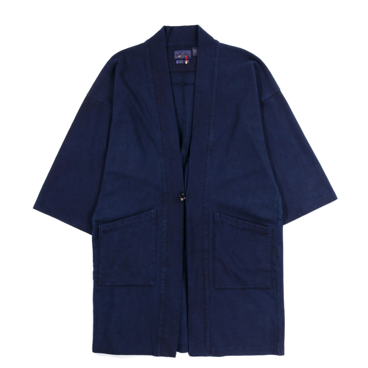 "BLUE BLUE JAPAN FIRM JERSEY HAND DYED ""HANTEN"" JACKET INDIGO"