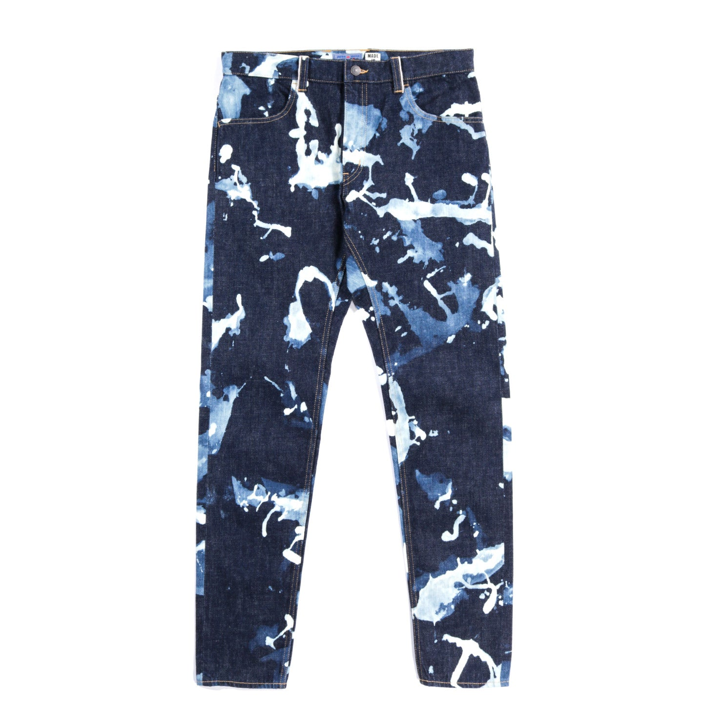 BLUE BLUE JAPAN SASHIKO RELAX TROUSERS INDIGO