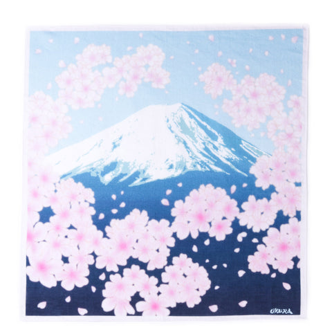 "BLUE BLUE JAPAN ""SAKURA TUNNEL & MT. FUJI"" BANDANA"