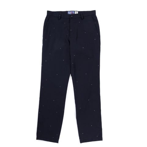 BLUE BLUE JAPAN STARRY NIGHT WOOL JACQUARD TWILL  TAPERED TROUSERS