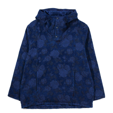 BLUE BLUE JAPAN BLUE ROSE GOBELIN HAND DYED ANORAK INDIGO