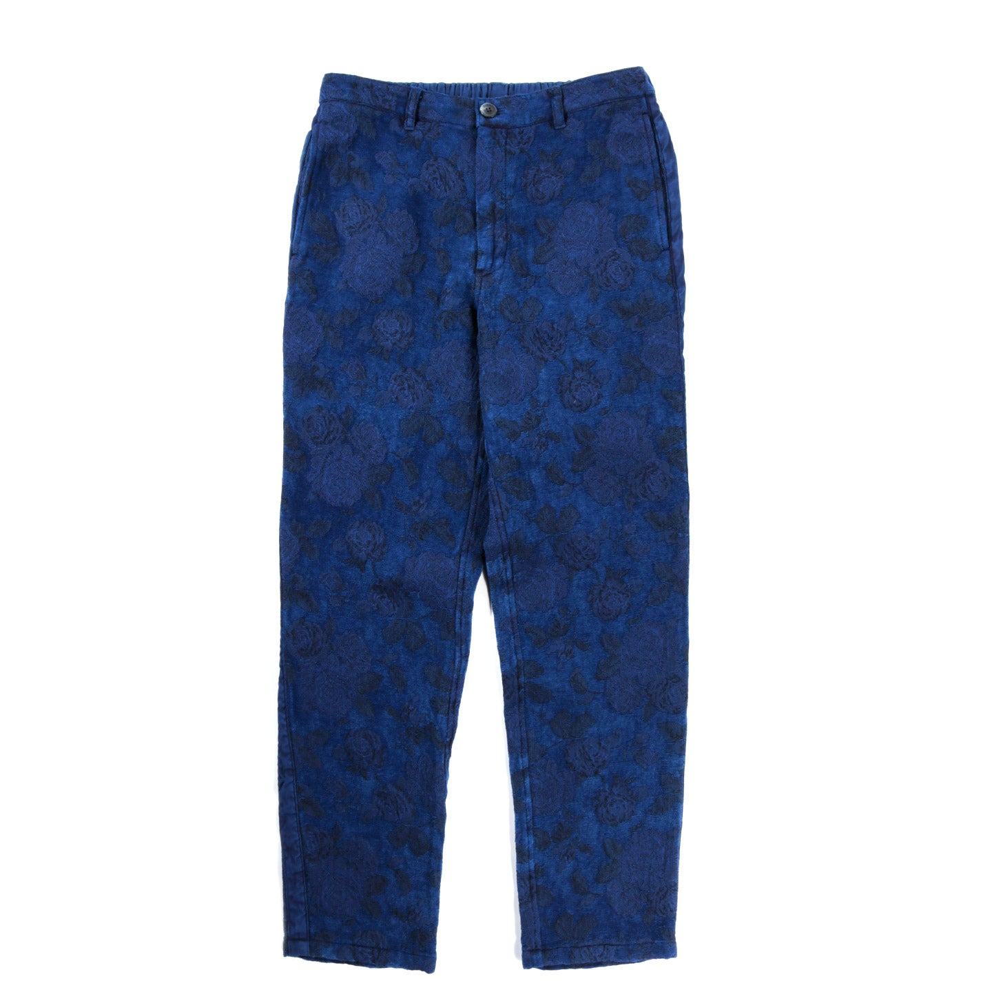 BLUE BLUE JAPAN BLUE ROSE GOBELIN HAND DYED SIDE LINE PANTS INDIGO