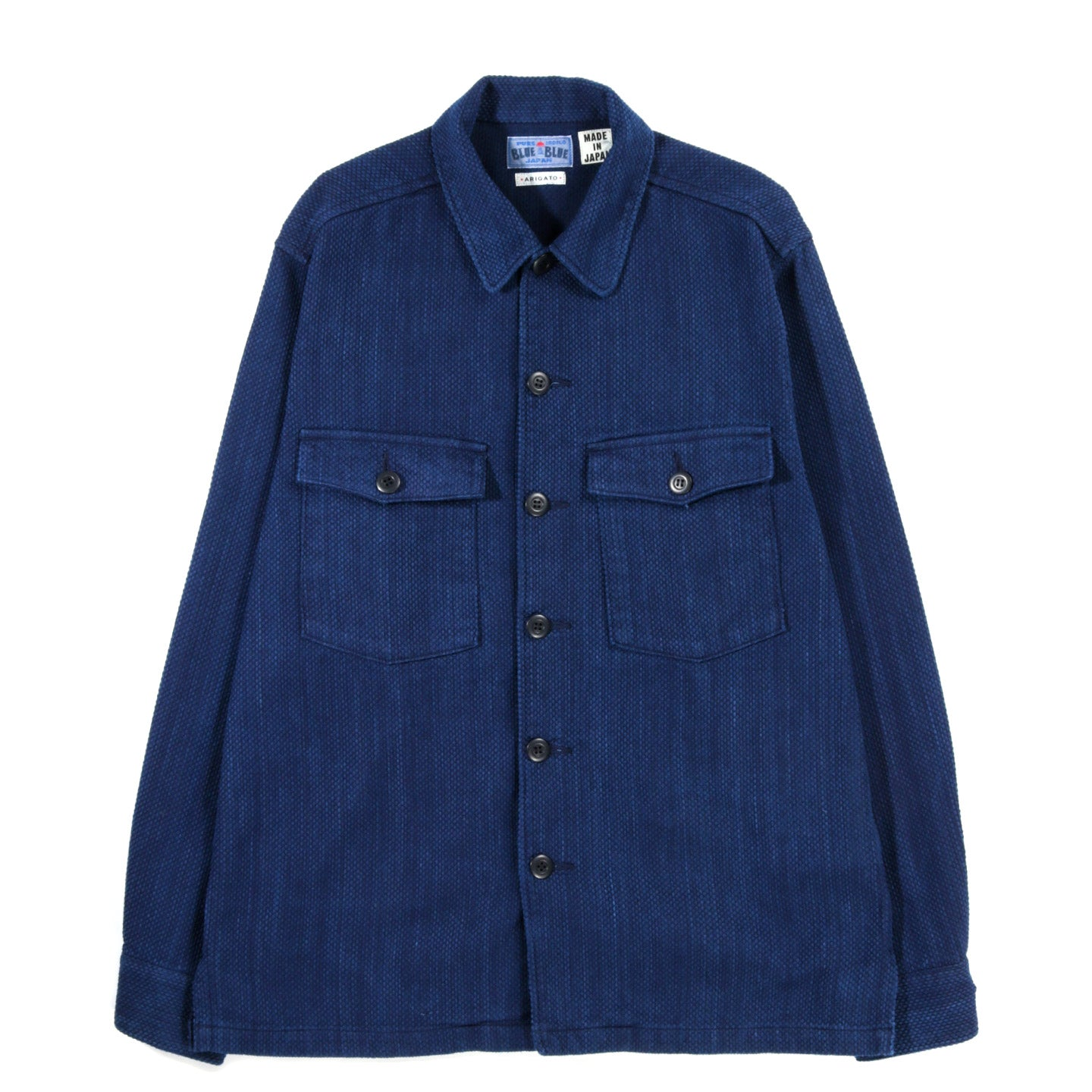 "BLUE BLUE JAPAN  INDIGO YARN DYED ""SASHIKO"" 2 POCKET SHIRT"