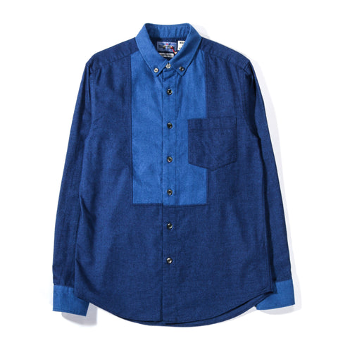 BLUE BLUE JAPAN INDIGO FLANNEL B.D. DINNER SHIRT