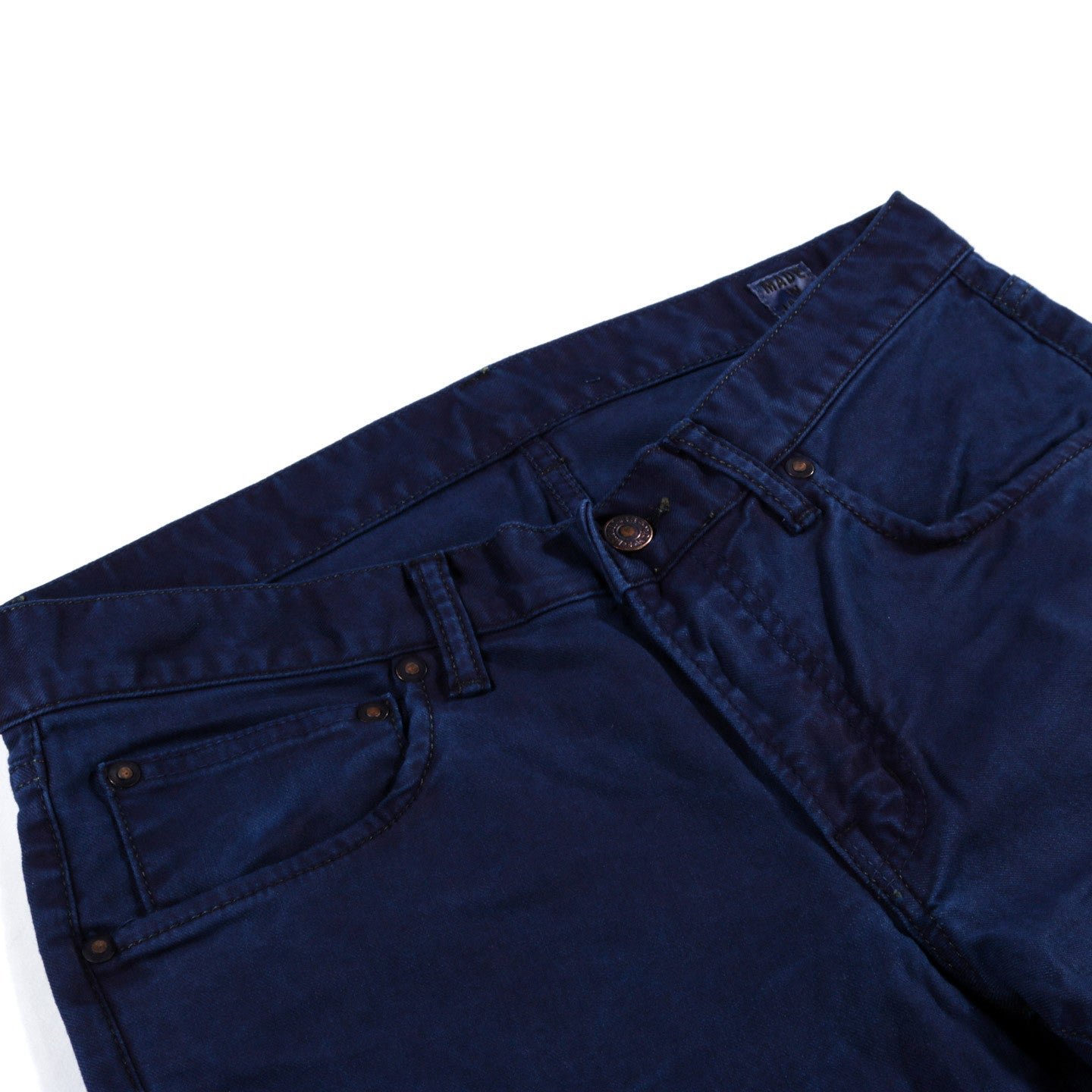 BLUE BLUE JAPAN STRETCH TWILL HAND DYED JEAN