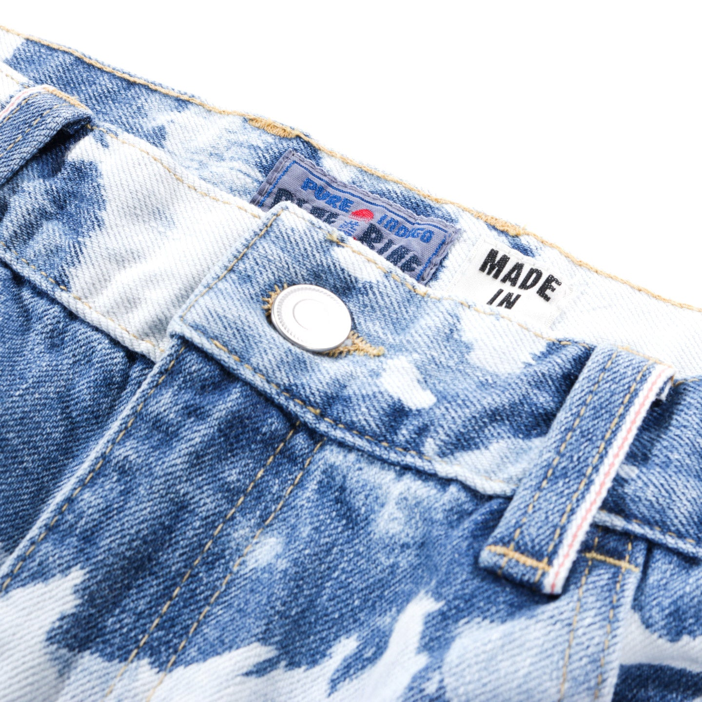 "BLUE BLUE JAPAN SELVEDGE DENIM ""KAGO BASSEN"" WORN-OUT SLIM JEANS"