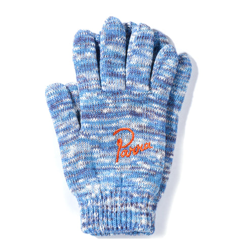BY PARRA KNITTED GLOVES BLUE / PURPLE