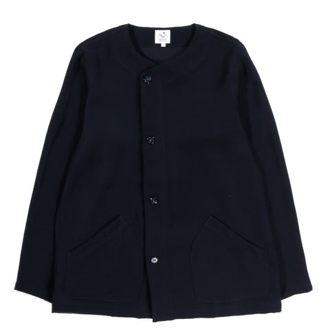 THE CONSPIRES NO COLLAR JACKET NAVY
