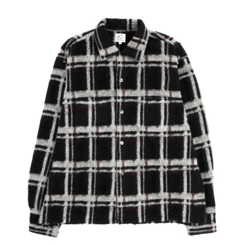 THE CONSPIRES CHECKED LONG SLEEVE SHIRT BLACK / WHITE