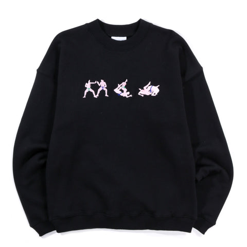 CARNE BOLLENTE KARATE QUEEN CREWNECK BLACK