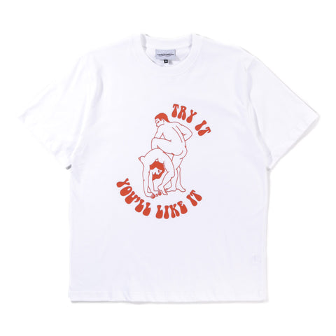 CARNE BOLLENTE TRY IT YOU'LL LIKE IT T-SHIRT WHITE