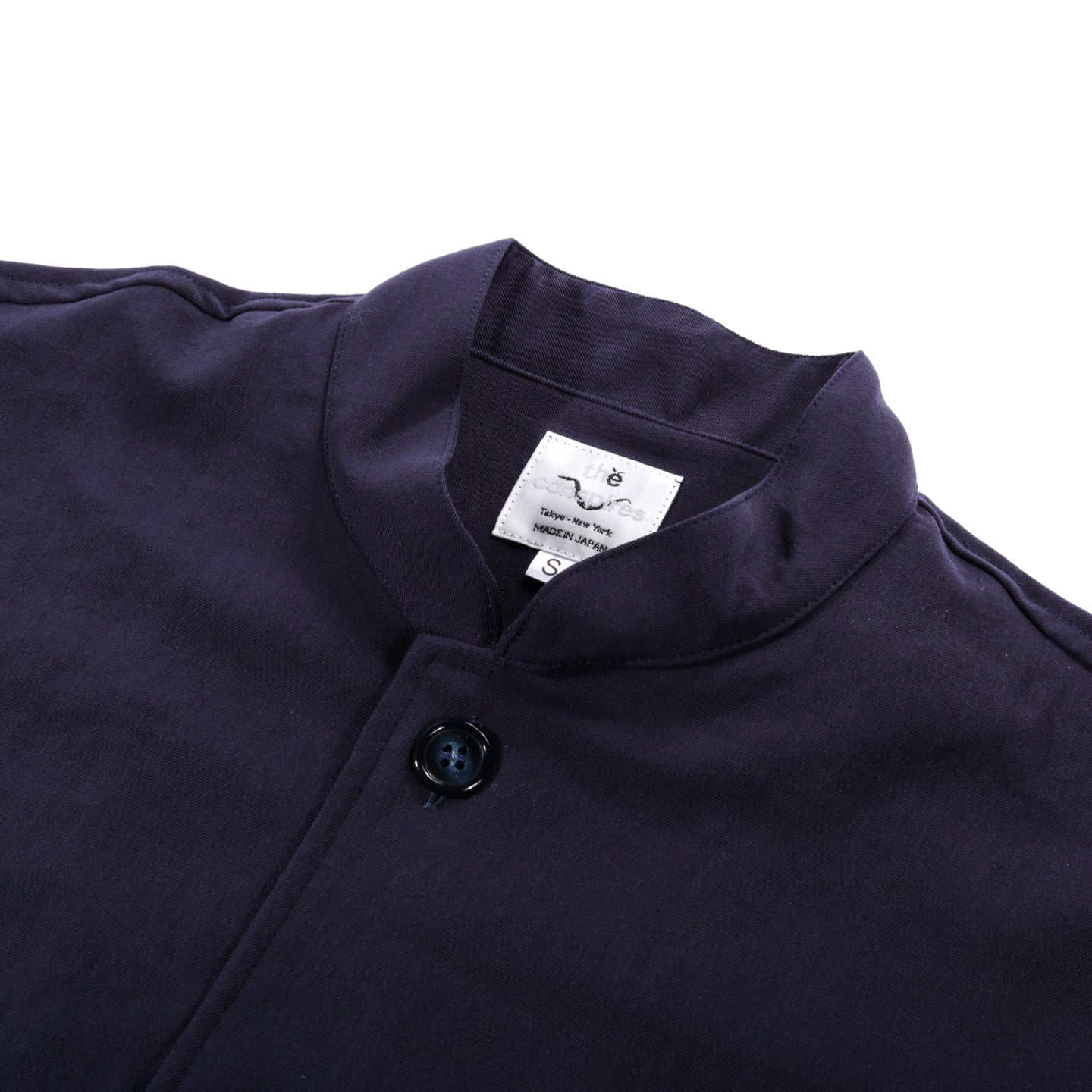 THE CONSPIRES STAND COLLAR JACKET NAVY