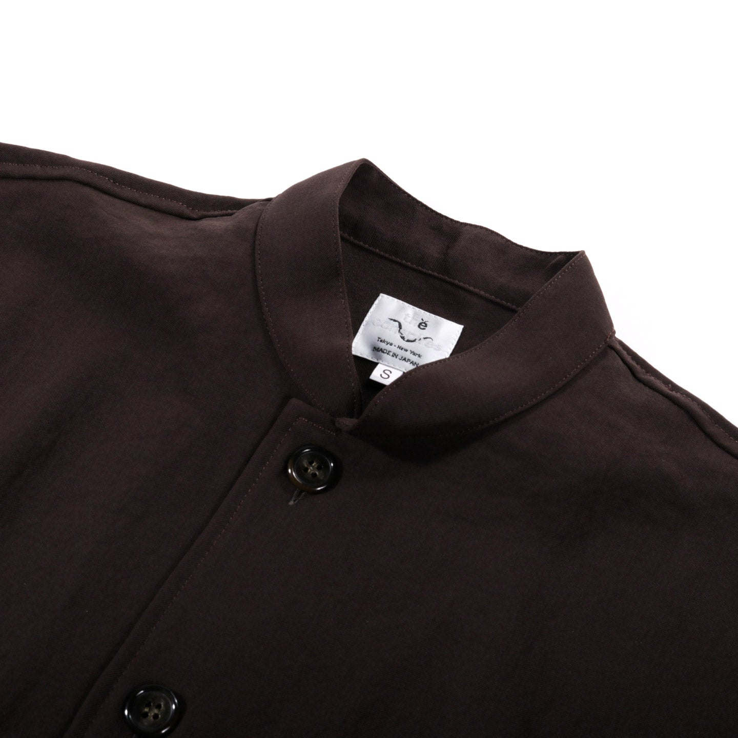 THE CONSPIRES STAND COLLAR JACKET BROWN
