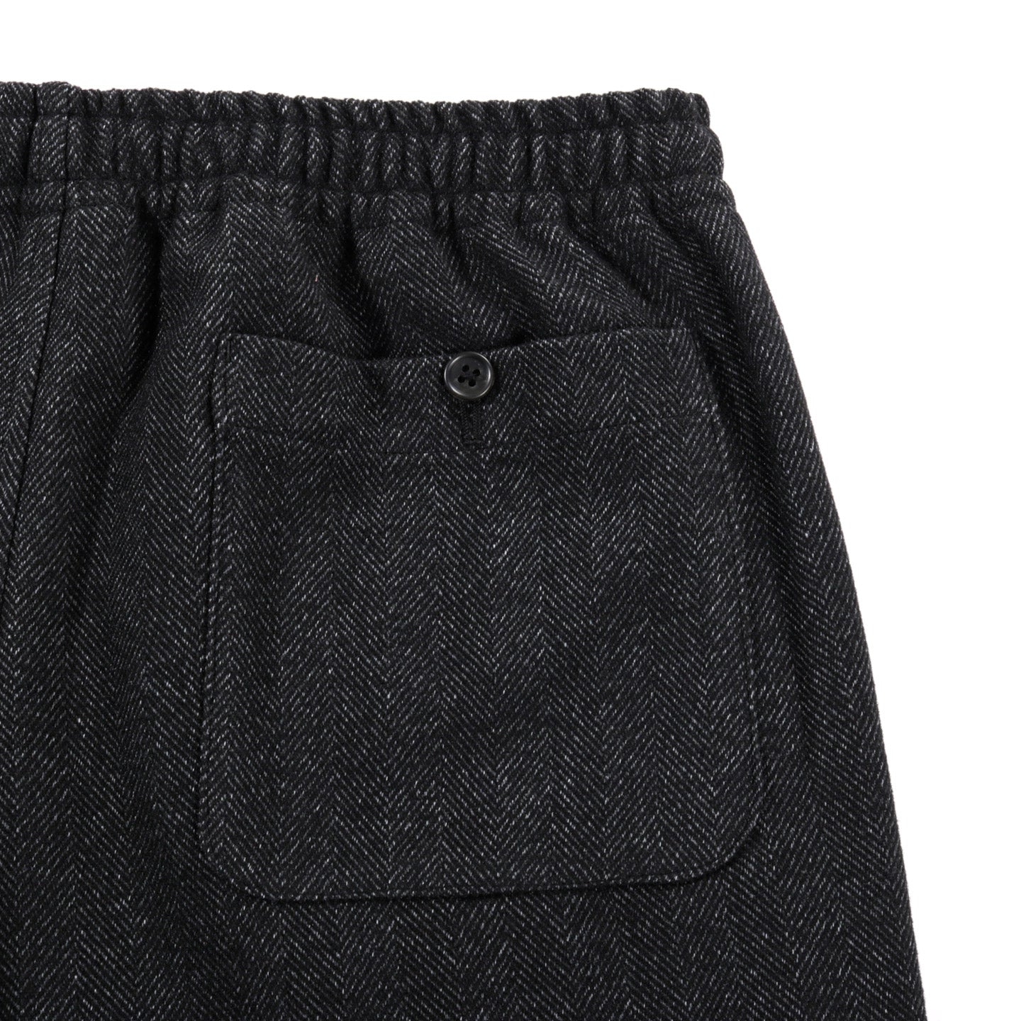 THE CONSPIRES HERRINGBONE EASY PANT CHARCOAL