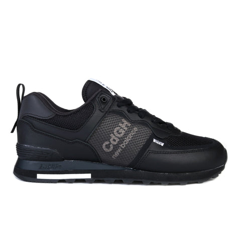 COMME DES GARCONS HOMME NEW BALANCE 574 STEER SMOOTH BLACK
