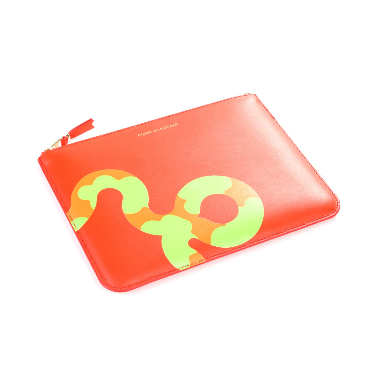 COMME DES GARCONS SA5100 RUBY EYES ZIP WALLET ORANGE