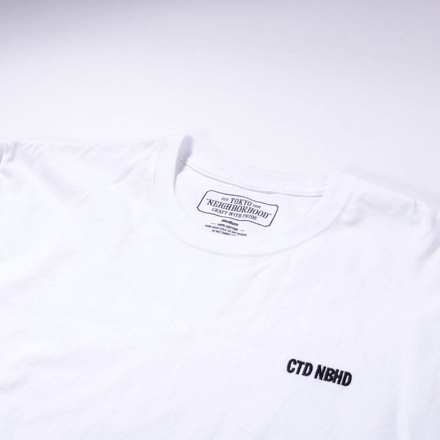 NEIGHBORHOOD CTD LS TEE WHITE