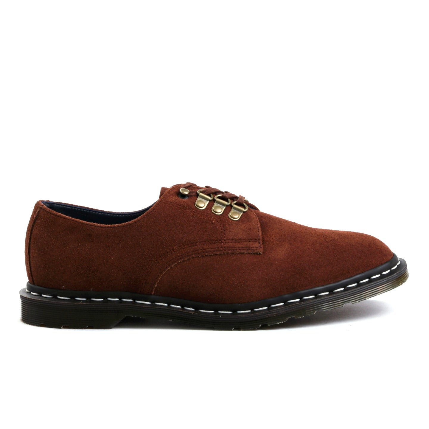 DR. MARTENS NANAMICA MIE PLYMOUTH OFFICER SHOE POLO BROWN HI SUEDE WP