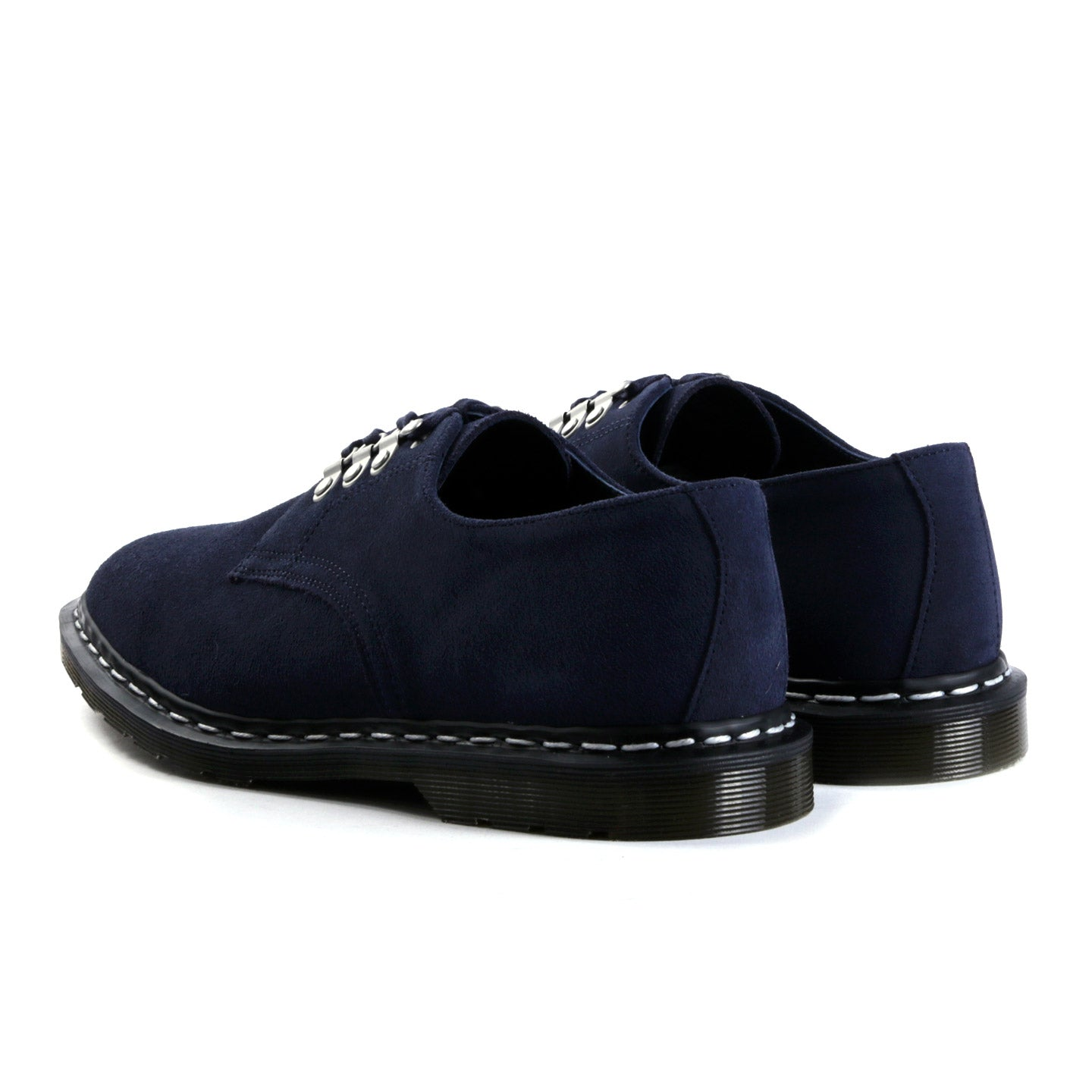 DR. MARTENS NANAMICA MIE PLYMOUTH OFFICER SHOE NAVY HI SUEDE WP