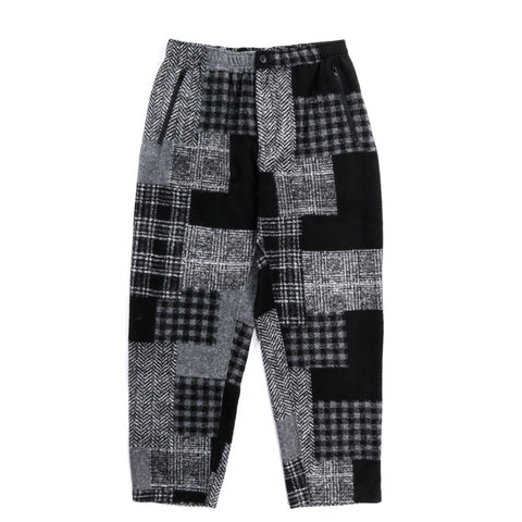 ENGINEERED GARMENTS JOG PANT BLACK GREY KNIT PATCHWORK HERRINGBONE