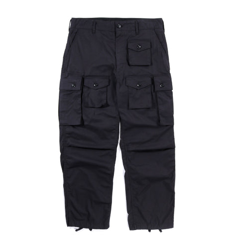 ENGINEERED GARMENTS FA PANT BLACK HIGHCOUNT TWILL