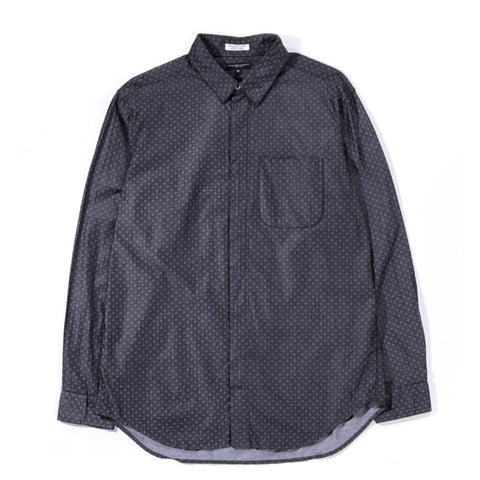 ENGINEERED GARMENTS SHORT COLLAR SHIRT CHARCOAL SMALL FOULARD PRINT