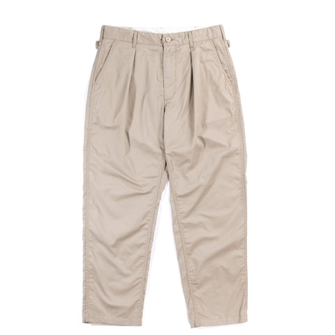 ENGINEERED GARMENTS GROUND PANT KHAKI HIGHCOUNT TWILL