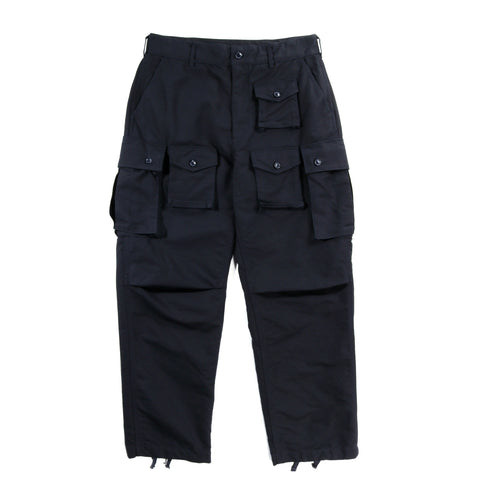 ENGINEERED GARMENTS FA PANT NAVY COTTON DOUBLE CLOTH