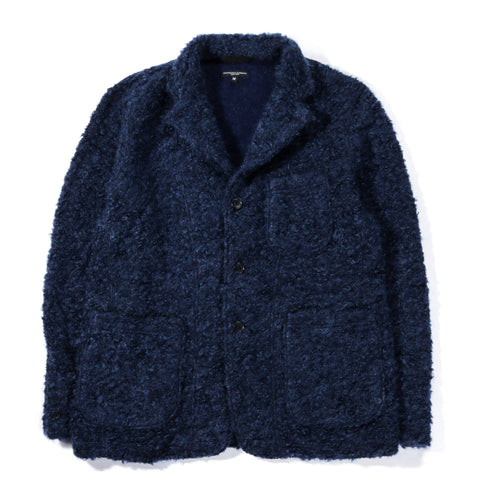 ENGINEERED GARMENTS KNIT BLAZER NAVY BOUCLE