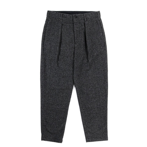 ENGINEERED GARMENTS CARLYLE PANT GREY WOOL BLEND HOMESPUN