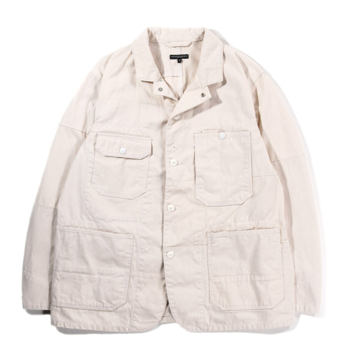 ENGINEERED GARMENTS LOGGER JACKET NATURAL 12OZ DUCK CANVAS