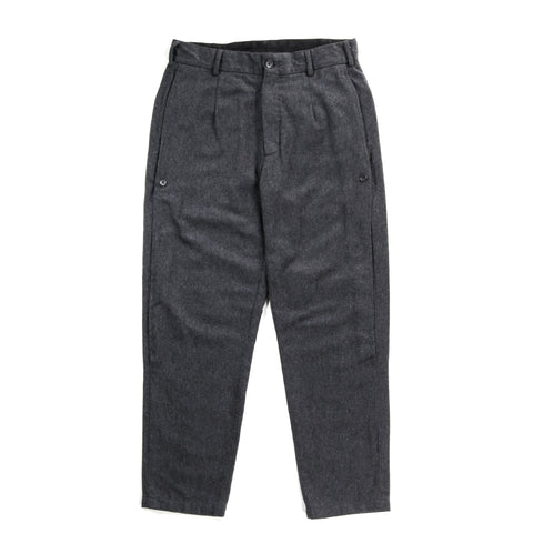 ENGINEERED GARMENTS DOUG PANT GREY WOOL COTTON FLANNEL