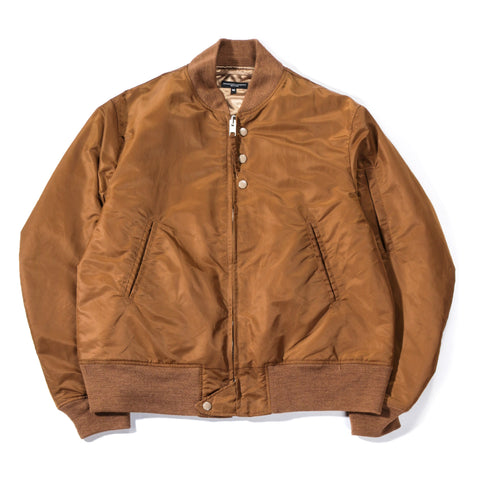 ENGINEERED GARMENTS AVIATOR JACKET KHAKI FLIGHT SATEEN