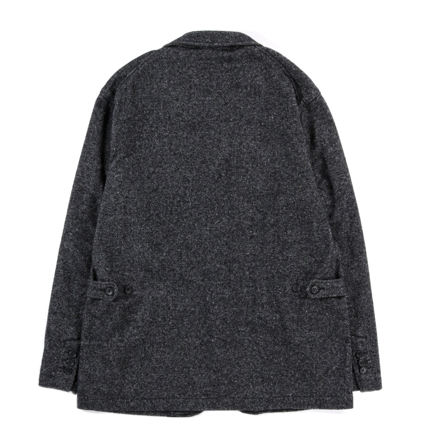ENGINEERED GARMENTS LOITER JACKET GREY WOOL BLEND HOMESPUN
