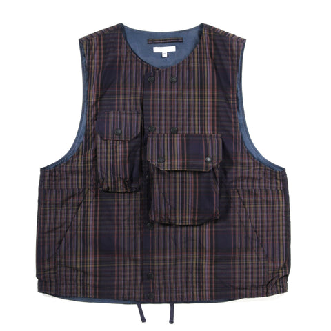ENGINEERED GARMENTS COVER VEST MULTI COLOR NYCO PLAID