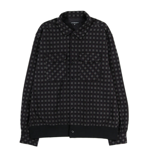 ENGINEERED GARMENTS CLASSIC SHIRT BLACK / BROWN VINTAGE CHECK FLANNEL
