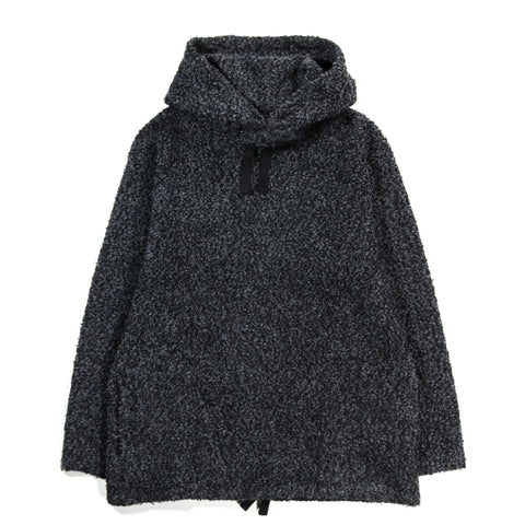 ENGINEERED GARMENTS LONG SLEEVE HOODY CHARCOAL CURLY KNIT