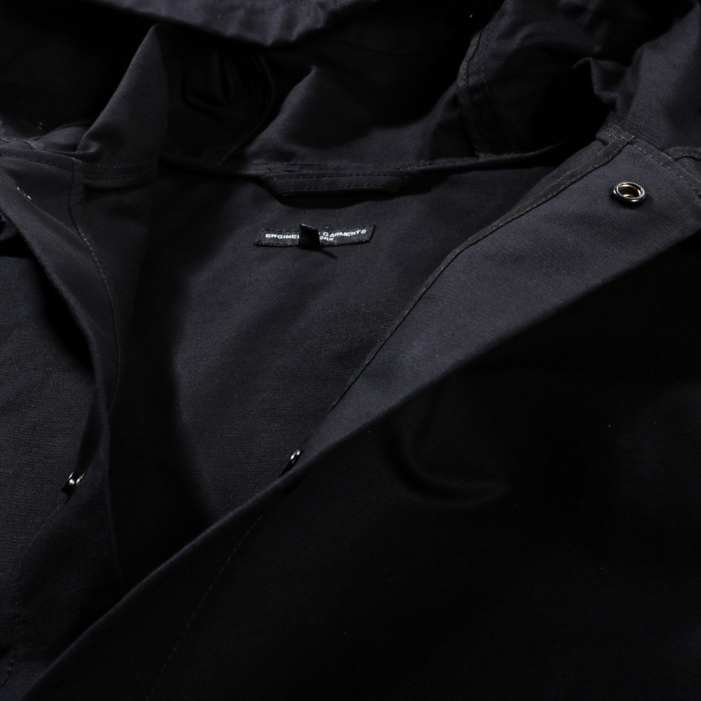 ENGINEERED GARMENTS MADISON PARKA BLACK COTTON DOUBLE CLOTH