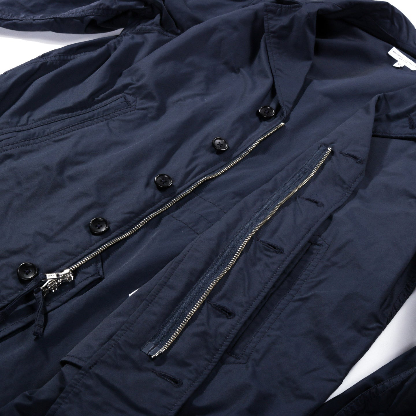 ENGINEERED GARMENTS 41 DUSTER DARK NAVY NYCO TWILL