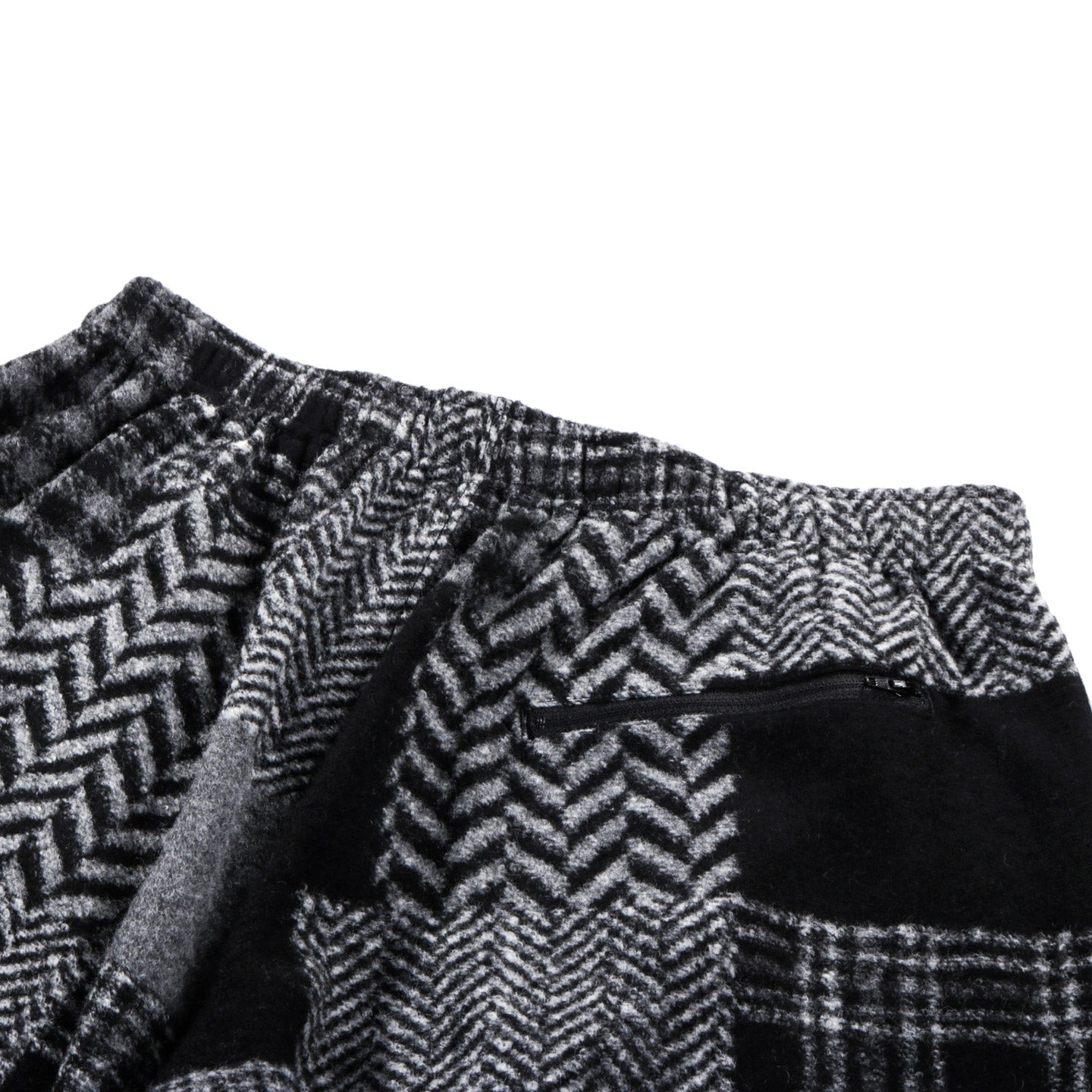 ENGINEERED GARMENTS HOODED INTERLINER CHARCOAL CURLY KNIT