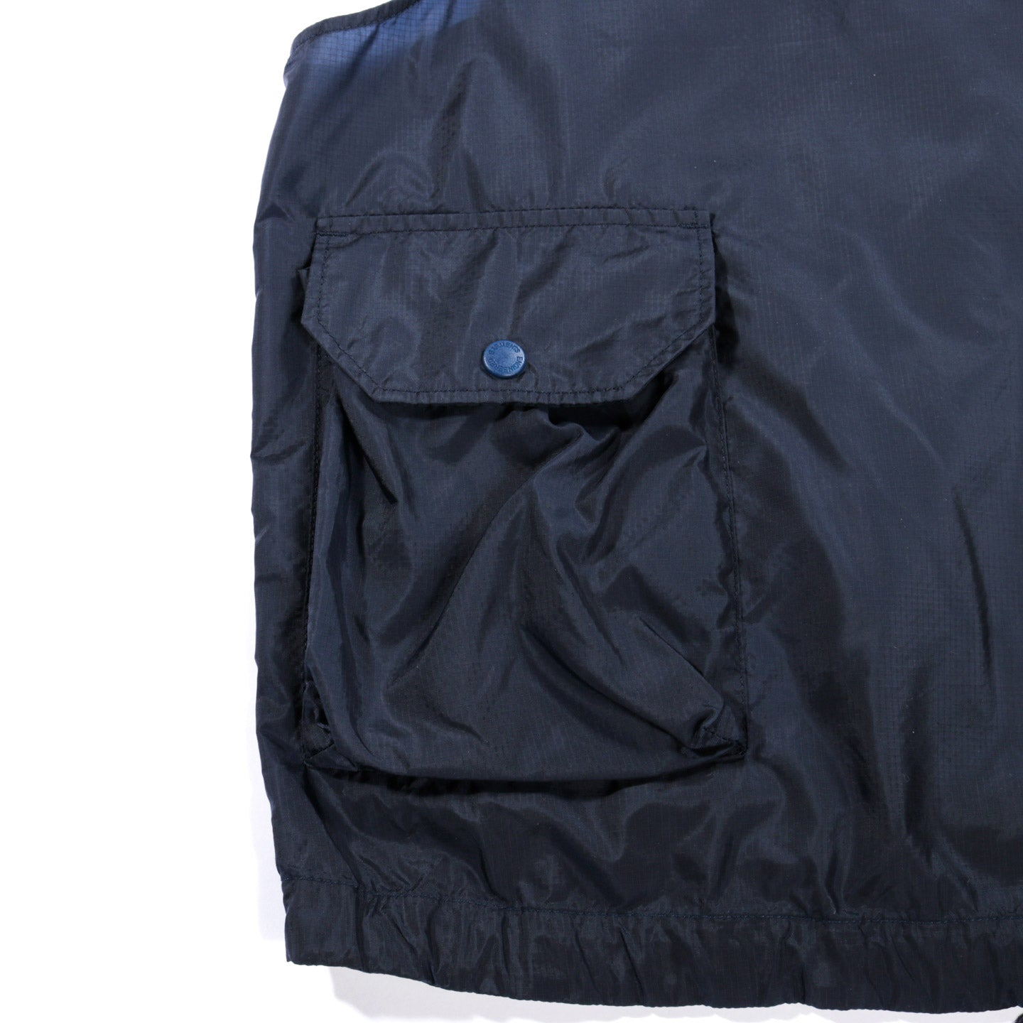 ENGINEERED GARMENTS ROUNDED COLLAR SHIRT DARK NAVY BROADCLOTH