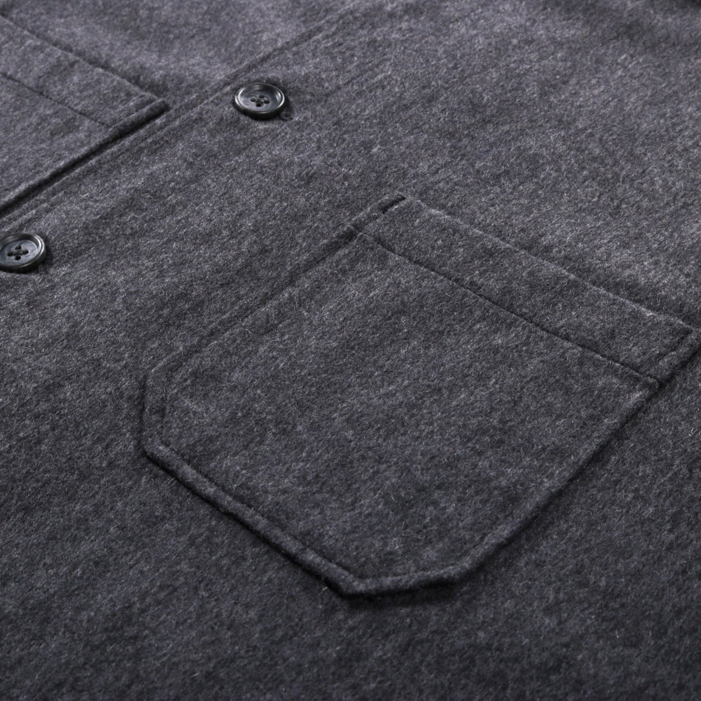 ENGINEERED GARMENTS DAYTON SHIRT GREY WOOL COTTON FLANNEL